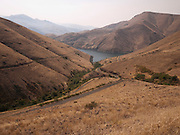 view of the Snake River from Sag Road in the Hell's Canyon region of Eastern Oregon