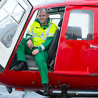SCAA..Scotland's Charity Air Ambulance have started to train the five paramedics who will man the new Air Ambulance to be based in Perth, pictured is paramedic Bruce Rumgay from Dundee in a Bolkow 105 from Bond Aviation Services who have been chosen to provice the aircraft for SCAA....24.01.13<br /> For further info contact Maureen Young on 07778 779888<br /> Picture by Graeme Hart.<br /> Copyright Perthshire Picture Agency<br /> Tel: 01738 623350  Mobile: 07990 594431