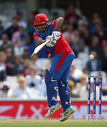 England's Asghar Afghan during the ICC Cricket World Cup Warm up match at The Oval, London.