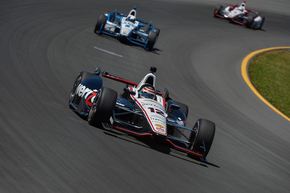 Will Power, Juan Pablo Montoya, Helio Castroneves, Pocono Raceway, USA 7/6/2014