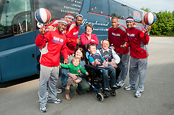 Harlem Globe Trotters Ride into Sheffield on a Greyhound..28 April 2011.Images © Paul David Drabble