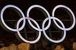 10.02.2018, Alpensia Ski Jumping Centre, Pyeongchang, KOR, PyeongChang 2018, Skisprung, Herren, Normalschanze, im Bild Olympische Ringe // Olympic rings during the Mens Normalhill Skijumping of the Pyeongchang 2018 Winter Olympic Games at the Alpensia Ski Jumping Centre in Pyeongchang, South Korea on 2018/02/10. EXPA Pictures © 2018, PhotoCredit: EXPA/ Johann Groder