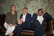 SARAH GIBBONS; STEPHEN BAYLEY; STUART GIBBONS,  ( sock entrepeneur ) The LAPADA Art & Antiques Fair - private view, Berkeley Sq. London. 12  September 2016