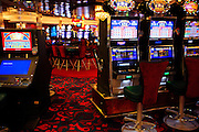 """Slot machines in the Casino onboard the cruise ship """"The Oasis of the Seas"""". Owned by the Royal Caribbean Cruise Line, it is as of January 2010 the largest cruise ship in the world."""