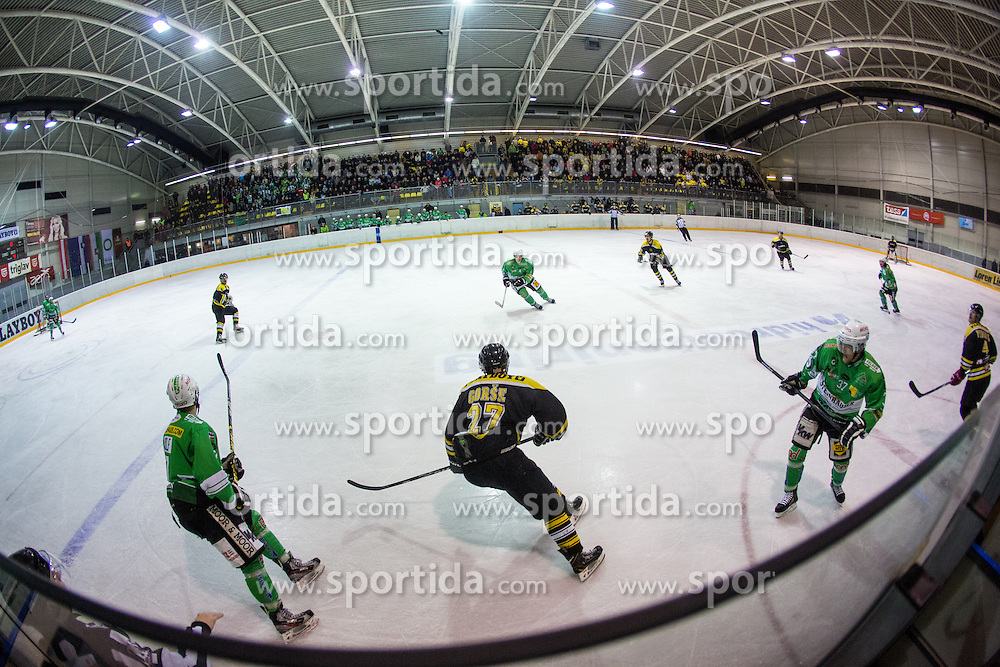 View on the rink during 5th game of final INL league ice hockey match between HK Playboy Slavija and EHC Bregenwald at Dvorana Zalog, on April 3, 2013, in Ljubljana, Slovenia. (Photo by Matic Klansek Velej / Sportida)