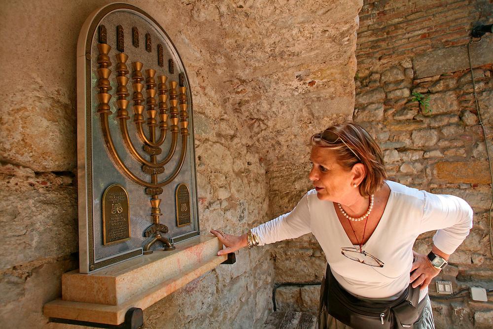 The Call Jueu. Jewish museum in the Jewish quarter of girona.