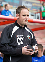 WREXHAM, WALES - Saturday, May 3, 2014: The New Saints' manager Carl Darlington before the Welsh Cup Final against Aberystwyth Town at the Racecourse Ground. (Pic by David Rawcliffe/Propaganda)