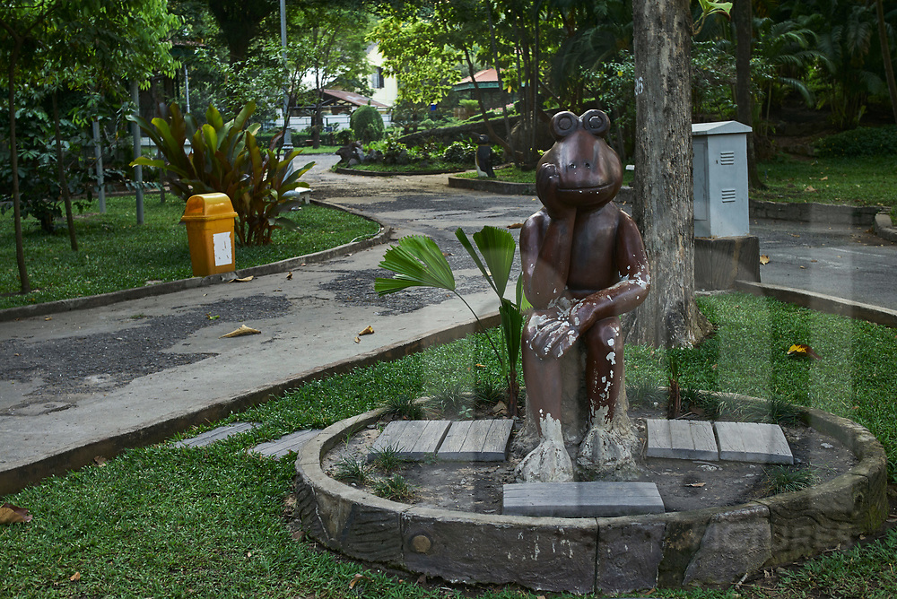 Frog statue in Saigon Zoo and Botanical Garden, Ho Chi Minh city, Vietnam, Southeast Asia