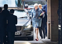 © Licensed to London News Pictures. 27/03/2019. London, UK. Prime Minister Theresa May arrives at Parliament for question time. MPs will hold a series of indicative votes on different Brexit options this evening. Photo credit: Peter Macdiarmid/LNP