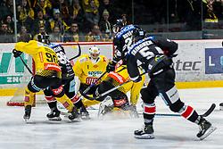 06.01.2019, Ice Rink, Znojmo, CZE, EBEL, HC Orli Znojmo vs Vienna Capitals, 36. Runde, im Bild v.l. Kelsey Tessier (Vienna Capitals) Anthony Luciani (HC Orli Znojmo) Jean Philippe Lamoureux (Vienna Capitals) Patrik Novak (HC Orli Znojmo) Matthew Clark (Vienna Capitals) Mikko Vainonen (HC Orli Znojmo) // during the Erste Bank Eishockey League 36th round match between HC Orli Znojmo and Vienna Capitals at the Ice Rink in Znojmo, Czechia on 2019/01/06. EXPA Pictures © 2019, PhotoCredit: EXPA/ Rostislav Pfeffer