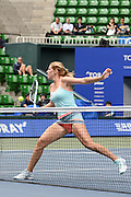 SEPTEMBER 21: Olga Savchuk of Ukraine and Arina Rodionova of Australia competes against Nicole Melichar of USA  and Varatchaya Wongteanchai of Thailand during women's double match day three of the Toray Pan Pacific Open at Ariake Colosseum on September 21, 2016 in Tokyo, Japan 21/09/2016-Tokyo, JAPAN