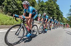06.07.2017, Kitzbühel, AUT, Ö-Tour, Österreich Radrundfahrt 2017, 4. Etappe von Salzburg - Kitzbüheler Horn (82,7 km/BAK), im Bild Johannes Schinnagel (GER, Team Felbermayr Simplon Wels), Markus Eibegger (AUT, Team Felbermayr Simplon Wels) // Johannes Schinnagel (GER, Team Felbermayr Simplon Wels), Markus Eibegger (AUT, Team Felbermayr Simplon Wels) during the 4th stage from Salzburg - Kitzbueheler Horn (82,7 km/BAK) of 2017 Tour of Austria. Kitzbühel, Austria on 2017/07/06. EXPA Pictures © 2017, PhotoCredit: EXPA/ JFK