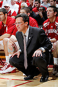 BLOOMINGTON, IN - MARCH 3: Indiana Hoosiers head coach Tom Crean looks on against the Wisconsin Badgers at Assembly Hall on March 3, 2011 in Bloomington, Indiana. Wisconsin won 77-67. (Photo by Joe Robbins) *** Local Caption *** Tom Crean