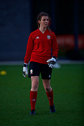 CARDIFF, WALES - Wednesday, January 16, 2019: Wales' goalkeeper Olivia Clarke during a training session at Dragon Park ahead of the International Friendly game against Italy. (Pic by David Rawcliffe/Propaganda)