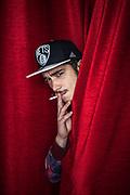 4 novembre 2016, Napoli Italia - Rione Sanità, Nuovo Teatro Sanità. Mariano Coletti, 20 anni, Nato a Napoli, rione Sanità, attore.