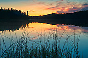 Spray Lake at sunrise<br />