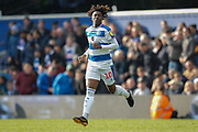 Queens Park Rangers midfielder Eberechi Eze (10) coming on as a substitute during the EFL Sky Bet Championship match between Queens Park Rangers and Swansea City at the Loftus Road Stadium, London, England on 13 April 2019.
