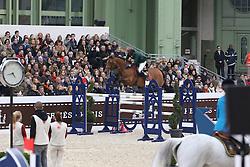 Ouaddar Abdelkebir, (MAR), Quickly de Kreisker<br /> Grand Prix Hermes <br /> Saut Hermes Paris 2016<br /> © Hippo Foto - Counet Julien