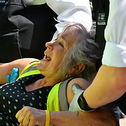 Police arrested activists on Day 5 - XRExtinction Occupy Parliament in demand the UK Govt to act of Climate Change by 2025 on 19 April 2019 at Oxford Street, London, UK.