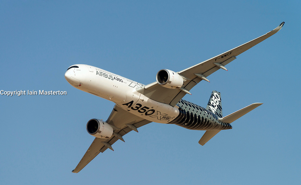 Airbus A350 XWB on display at Dubai Airshow in November 2015 Dubai United Arab Emirates