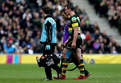 Louis Picamoles of Northampton Saints walks off the field with an injury - Mandatory by-line: Robbie Stephenson/JMP - 16/04/2017 - RUGBY - StadiumMK - Milton Keynes, England - Northampton Saints v Saracens - Aviva Premiership