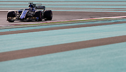 November 24, 2017 - Abu Dhabi, United Arab Emirates - Marcus Ericsson of Sweden and Sauber Team driver goes during the first practice at Formula One Etihad Airways Abu Dhabi Grand Prix on Nov 24, 2017 in Yas Marina Circuit, Abu Dhabi, UAE. (Credit Image: © Robert Szaniszlo/NurPhoto via ZUMA Press)