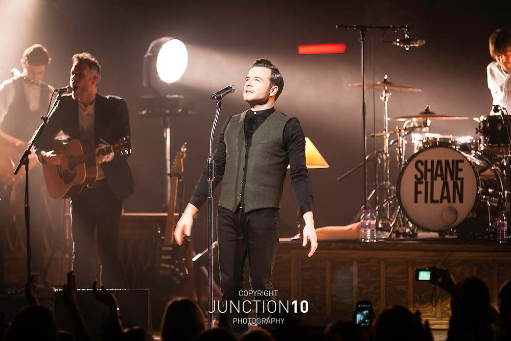 Shane Filan in concert at the Symphony Hall, Birmingham, United Kingdom<br /> Picture Date: 21 February, 2014