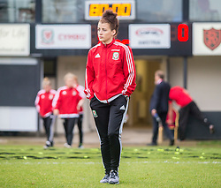 NEWPORT, WALES - Tuesday, September 20, 2016: Wales' Angharad James arrives at Rodney Parade ahead of the UEFA Women's Euro 2017 Qualifying Group 8 match against Austria. (Pic by Laura Malkin/Propaganda)