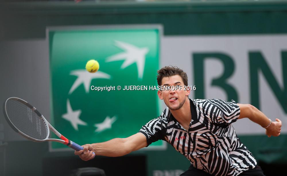 Dominic Thiem (AUT)<br /> <br /> Tennis - French Open 2016 - Grand Slam ITF / ATP / WTA -  Roland Garros - Paris -  - France  - 3 June 2016.