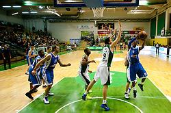 Smiljan Pavic of Krka vs George Daniel Erwing Jr. of Azovmash during basketball match between KK Krka and BC Azovmash Mariupol (UKR) of 4th Round of Regular season of Eurocup 2011/2012 on December 6, 2011, in Arena Leon Stukelj, Novo mesto, Slovenia. Krka defeated Azovmash 74-70. (Photo by Vid Ponikvar / Sportida)