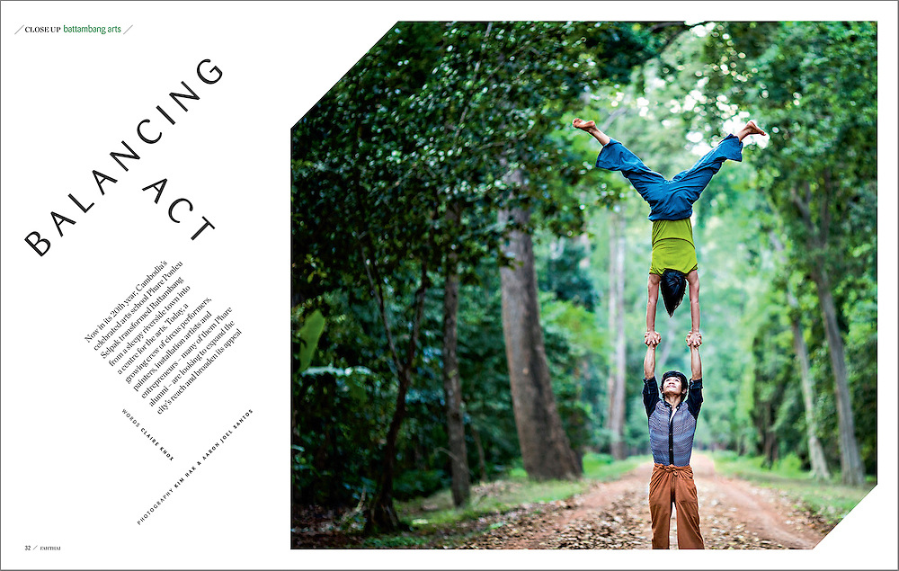 Phare Circus performers in Siem Reap, Cambodia for Fah Thai magazine.