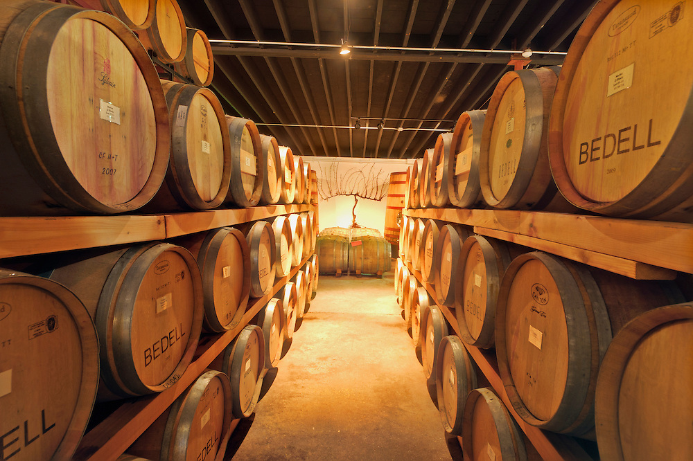 Barrell and Fermentation Room, Bedell Cellars Winery, Cutchogue, New York, North Fork, Long Island