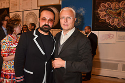 Left to right, Evgeny Lebedev and Alexander Lebedev at the Royal Academy of Arts Summer Exhibition Preview Party 2017, Burlington House, London England. 7 June 2017.