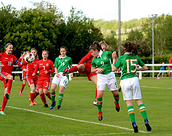 Mia Todd heads Republic of Ireland U16 1st goal against Lithuania during the Uefa U16&rsquo;s development tournament at Solar 21 Park, Mayo.<br /> Pic Conor McKeown