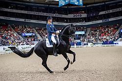 MINDERHOUD Hans Peter (NED), Glock's Dream Boy N.O.P.<br /> Göteborg - Gothenburg Horse Show 2019 <br /> FEI Dressage World Cup™ Final II<br /> Grand Prix Freestyle/Kür<br /> Longines FEI Jumping World Cup™ Final and FEI Dressage World Cup™ Final<br /> 06. April 2019<br /> © www.sportfotos-lafrentz.de/Stefan Lafrentz