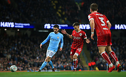 Bernardo Silva of Manchester City and Jamie Paterson of Bristol City - Mandatory by-line: Matt McNulty/JMP - 09/01/2018 - FOOTBALL - Etihad Stadium - Manchester, England - Manchester City v Bristol City - Carabao Cup Semi-Final First Leg