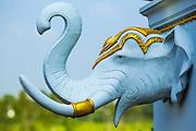 30 SEPTEMBER 2012 - BANGKOK, THAILAND: A Ganesha (elephant) head at the Shiva Temple in the Raminthra neighborhood of Bangkok, Thailand. The temple is popular with Bangkok's Indian community.      PHOTO BY JACK KURTZ