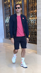 AU_1444775 - Perth, AUSTRALIA  -  *EXCLUSIVE*  - Roger Federer seen leaving hotel in Perth, Western Australia<br />
