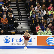 Ashley Wagner competes during the championship ladies free skate at the 2014 US Figure Skating Championships at the TD Garden on January 11, 2014 in Boston, Massachusetts.
