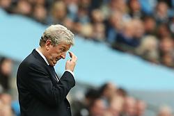 Crystal Palace manager Roy Hodgson looks dejected - Mandatory by-line: Matt McNulty/JMP - 23/09/2017 - FOOTBALL - Etihad Stadium - Manchester, England - Manchester City v Crystal Palace - Premier League