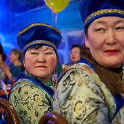 "New Year celebration by Buryati villagers living in Selenga in the Kabansk region along the shore at Russia's Lake Baikal. Crowned the ""Jewel of Siberia"", Baikal is the world's deepest lake, and the biggest lake by volume, holding 20% of the world's fresh water. In the winter, the lake 31,722 square meter surface is entirely frozen with ice averaging 2 meters thick."
