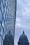 Passing clouds at sunset provide a backdrop for the dome of the Wisconsin State Capitol in downtown Madison, Wis., on Nov. 8, 2007. At left is the glass side of the US Bank building a 1 S. Pinckney Street..Photo © Jeff Miller 2007 - all rights reserved.www.jeffmillerphotography.com  ?  608-250-2374.Date: 11/07   File#: NIKON D200 digital camera frame 5324