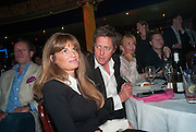 JEMIMA KHAN; HUGH GRANT, The Hoping Foundation  'Rock On' benefit evening for Palestinian refugee children.  Cafe de Paris, Leicester Sq. London. 20 June 2013