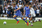 Leeds United defender Charlie Taylor (21) on the attack during the EFL Sky Bet Championship match between Derby County and Leeds United at the iPro Stadium, Derby, England on 15 October 2016. Photo by Aaron  Lupton.