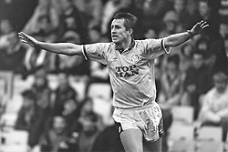 Lee Chapman Leeds United Celebrates after scoring at Coventry, Coventry v Leeds United, First Division, Highfield Road,  1991