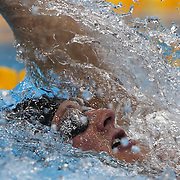 Ryan Lochte, USA, winning the gold medal in the Men's 400m Individual Medley during the swimming finals at the Aquatic Centre at Olympic Park, Stratford during the London 2012 Olympic games. London, UK. 28th July 2012. Photo Tim Clayton