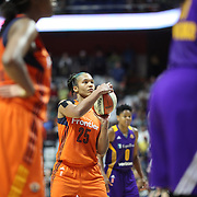 UNCASVILLE, CONNECTICUT- JULY 15:  Alyssa Thomas #25 of the Connecticut Sun shoots a free throw during the Los Angeles Sparks Vs Connecticut Sun, WNBA regular season game at Mohegan Sun Arena on July 15, 2016 in Uncasville, Connecticut. (Photo by Tim Clayton/Corbis via Getty Images)