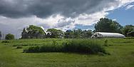 Harmony Farm, Goshen, NY - stone house and green house