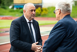 Radenko Mijatovic, president of NZS and Darko Klaric of NK Bravo during celebration of NK Bravo, winning team in 2nd Slovenian Football League in season 2018/19 after they qualified to Prva Liga, on May 26th, 2019, in Stadium ZAK, Ljubljana, Slovenia. Photo by Vid Ponikvar / Sportida