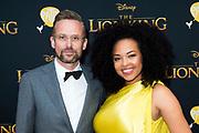 Nederlandse galapremiere van de Disney-klassieker Lion King in Pathe Tuschinski, Amsterdam.<br /> <br /> Op de foto:   Patrick Martens en Tjindjara